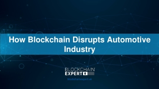 How Blockchain Disrupts Automotive Industry