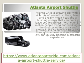 Best Services For Limo Car Rental in Atlanta