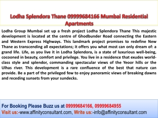 Lodha Splendora Thane, Lodha New Project Thane, Lodha Thane