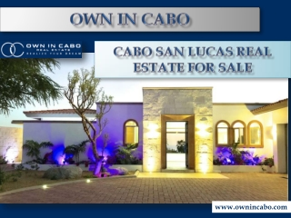 Cabo San Lucas Real Estate For Sale