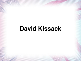 David Kissack – A highly experienced mechanical engineer fro