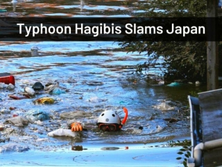 Typhoon Hagibis slams Japan