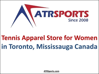 Tennis Apparel Store for Women in Toronto, Mississauga Canada - ATR Sports