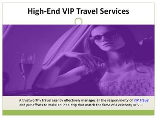 High-End VIP Travel Services