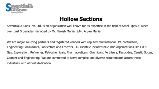 Hollow Sections