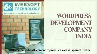 Best Wordpress Development Company in India - 6ixwebsoft