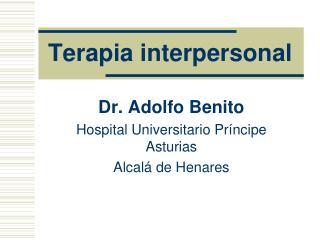Terapia interpersonal