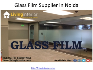 Glass Film Supplier in Noida