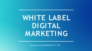 what is white label digital marketing ? How It's work ?
