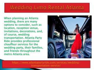 Best Services For Wedding Limousine Atlanta in Georgia