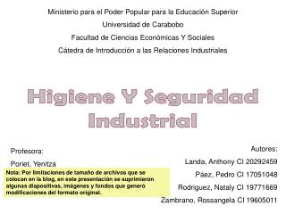 Ministerio para el Poder Popular para la Educación Superior Universidad de Carabobo Facultad de Ciencias Económicas Y So