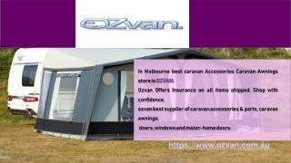Best caravan awnings shop in Australia