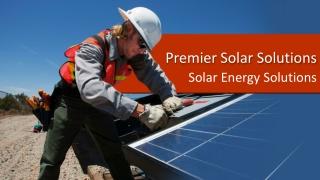 Premier Solar - Good Reputation Solar Industry