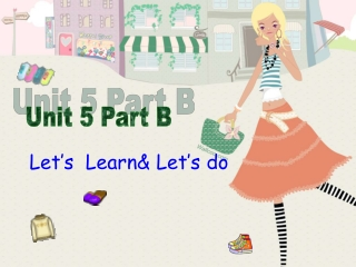 Let's Learn& Let's do