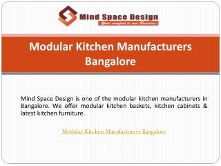 Modular Kitchen Manufacturers Bangalore
