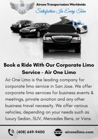Book a Ride With Our Corporate Limo Service