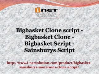 Bigbasket Script - Sainsburys Script