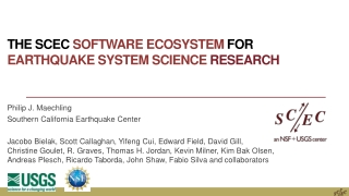 The SCEC Software Ecosystem for Earthquake System Science Research