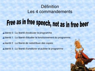 D finition Les 4 commandements
