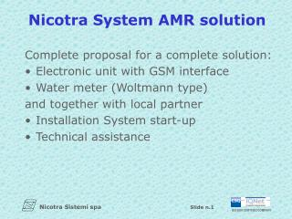 Nicotra System AMR solution