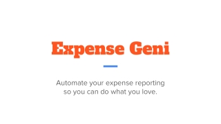 Expense Geni
