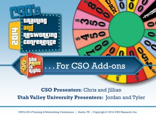 . . . For CSO Add-ons