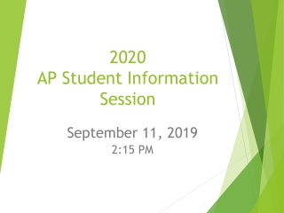 2020 AP Student Information Session