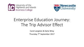 Enterprise Education Journey: The Trip Advisor Effect