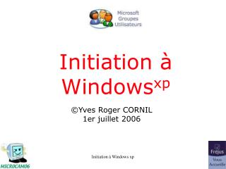 Initiation à Windows xp