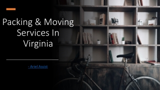 Packing & Moving ServicesInVirginia
