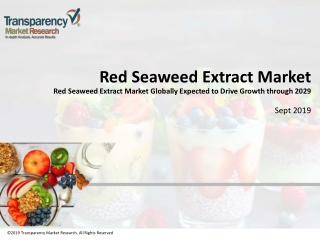 Red Seaweed Extract Market Size, Share, Analysis 2019-2029