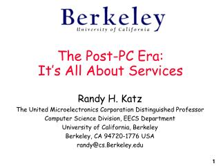 The Post-PC Era: It's All About Services