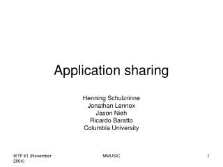 Application sharing