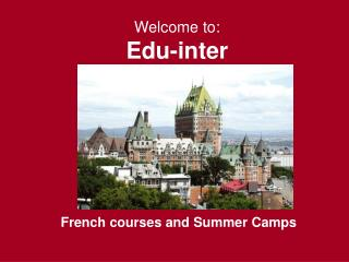 Welcome to: Edu-inter