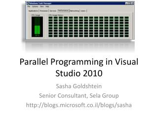 Parallel Programming in Visual Studio 2010
