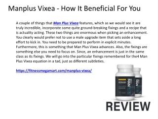Manplus Vixea - Stamina Booster Work With Natural Ingredients