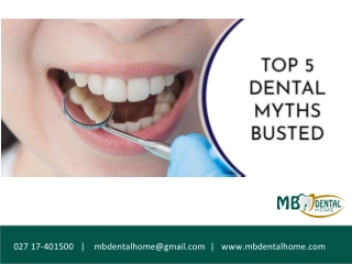 Top 5 Dental MythsBusted