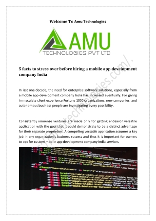 5 facts to stress over before hiring a mobile app development company India