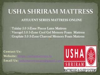 Usha Shriram Mattress – Affluent Series Mattress Collection