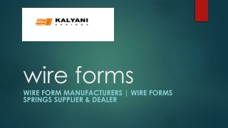Wire Form   Wire forms springs   Wire Form Manufacturers