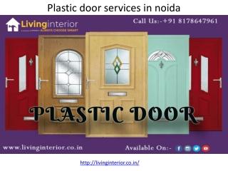 Plastic door services in noida