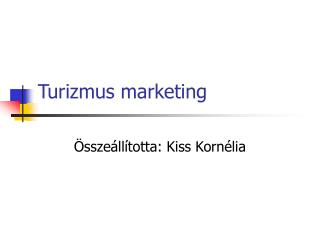 Turizmus marketing
