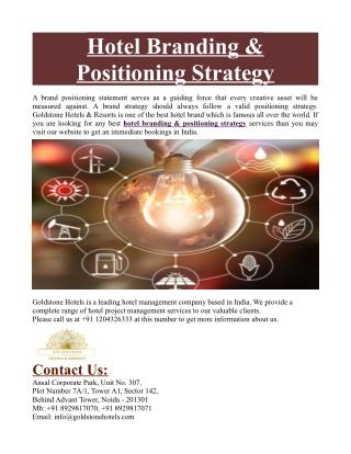Hotel Branding & Positioning Strategy