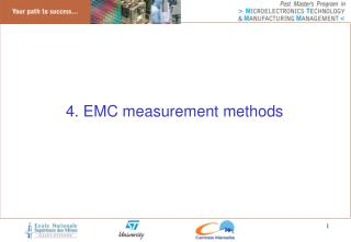 4 . EMC measurement methods