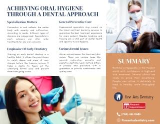 Achieving Oral Hygiene Through A Dental Approach