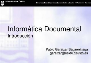 Informática Documental Introducción