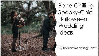 Bone Chilling Spooky-Chic Halloween Wedding Ideas