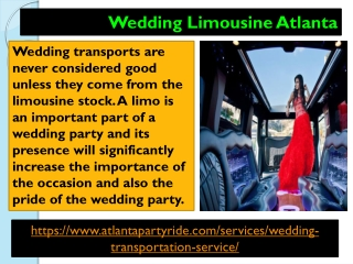 Best Limo Rental Service in Atlanta Party Ride