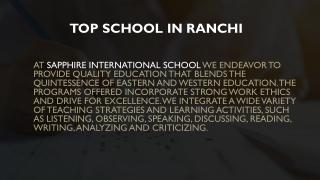 Top school in Ranchi   Top International school in Ranchi