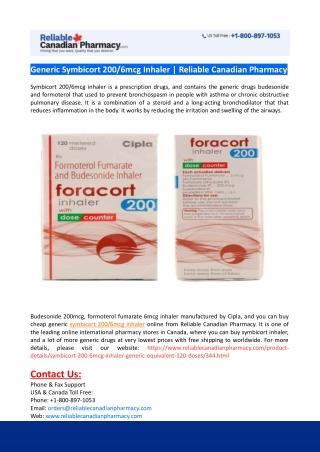 Buy Generic Symbicort Inhaler Online
